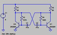 Circuit diagram ready for simulation in LTSPICE software